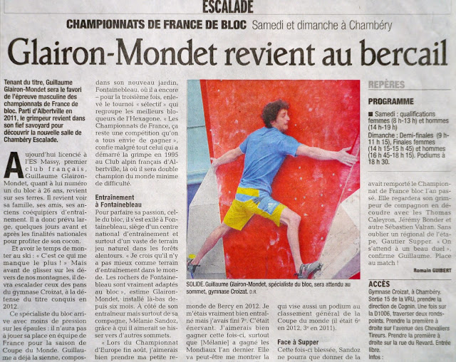 Guillaueme in the Newspaper